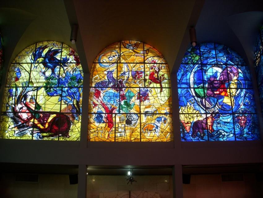 Chagall Windows at Hadassah Medical Center, Jerusalem ... Chagall Hadassah Windows