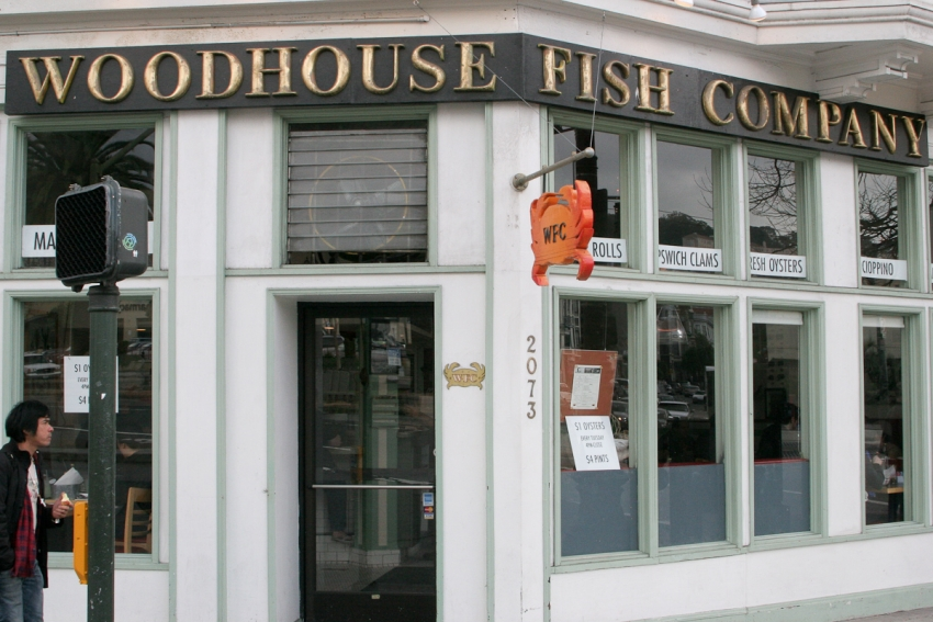 Woodhouse fish company san francisco bars cafes for Woodhouse fish co
